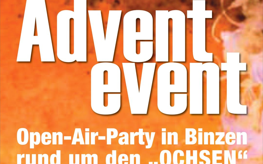 Das legendäre Ochsen Event findet am 21.11.2020 wieder statt!!!